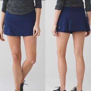 Lululemon Pace Rival Skirt II skort hero blue